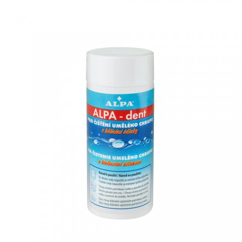 ALPA-dent preparation for cleansing of artificial teeth with whitening and disinfection effects