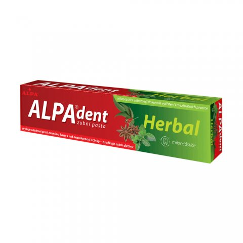 ALPA-dent HERBAL toothpaste with micro particles